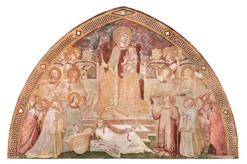 Maestà, affresco strappato dalla chiesa di San Galgano a Montesiepi.