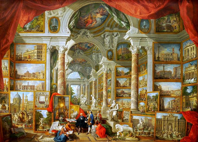 Galleria di vedute della Roma moderna, Giovanni Paolo Pannini, 1759.