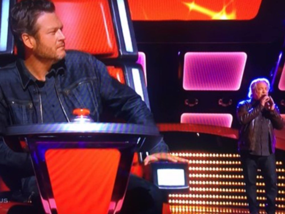 Blake Shelton about to hit the Big Red Button