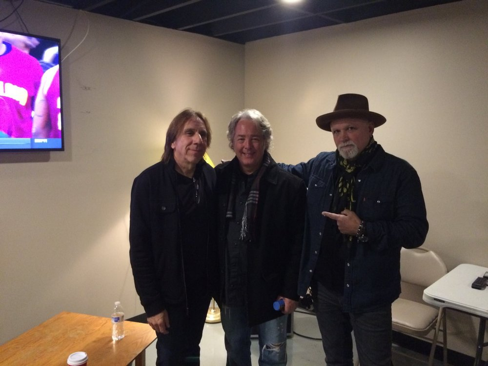 Troy Luccketta (Tesla), Dan, Derek St Holmes (Ted Nugent) before a Classic Rock Allstar Show