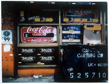 Coney Island store front, Polaroid Print, 2001