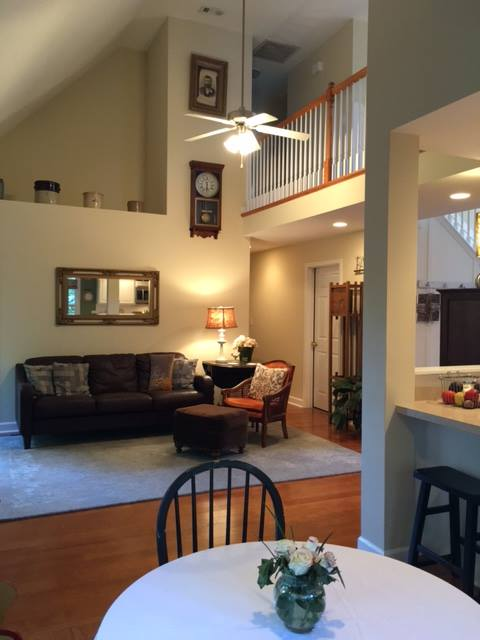 Great Room in our Spring Hill home had an open lofty feel.