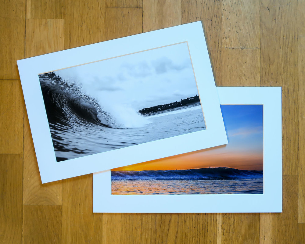 A couple of matted prints at 12x8""