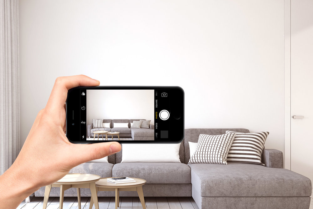 Take a quick photo of your space and receive your mockups.