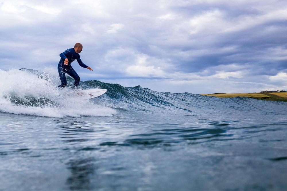 Suds surfing Sandend.