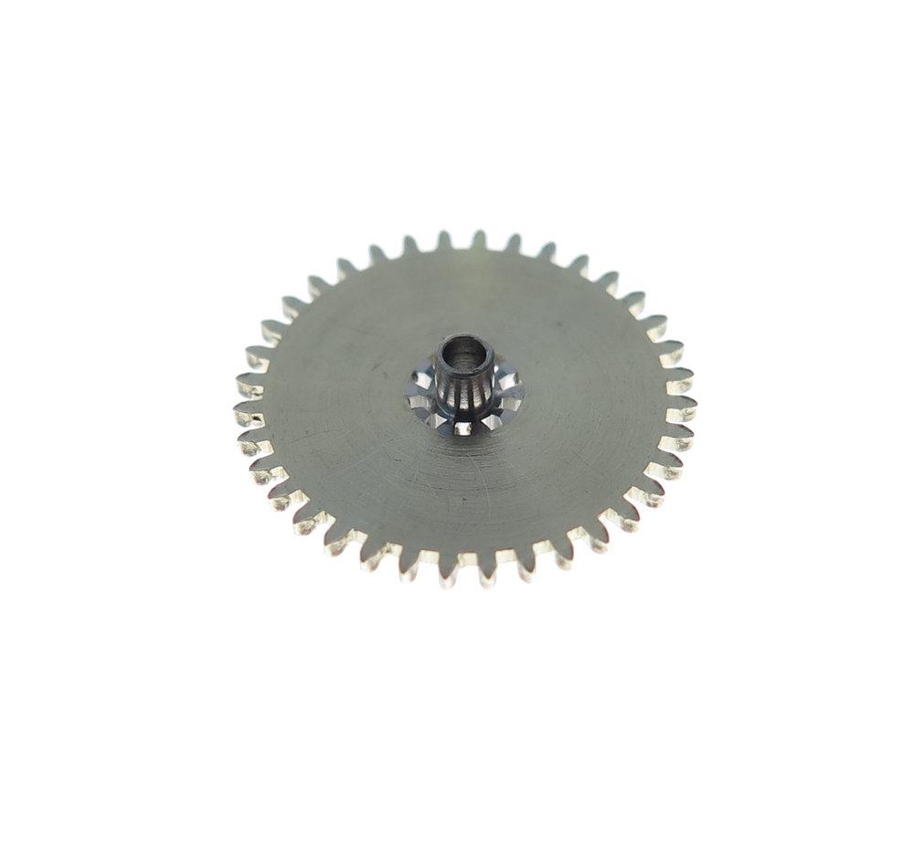 Underside of the minute wheel