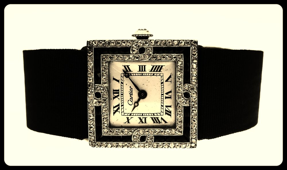 Ladies Onyx dress watch