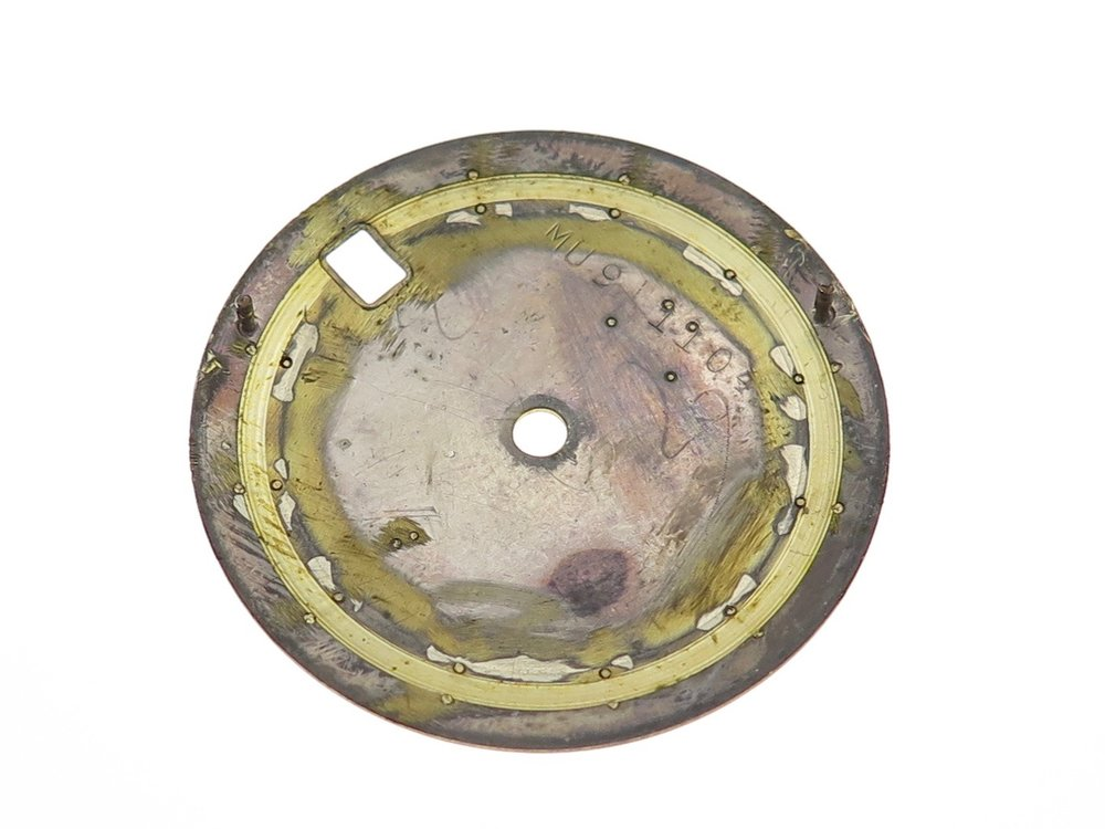 Underside of the dial