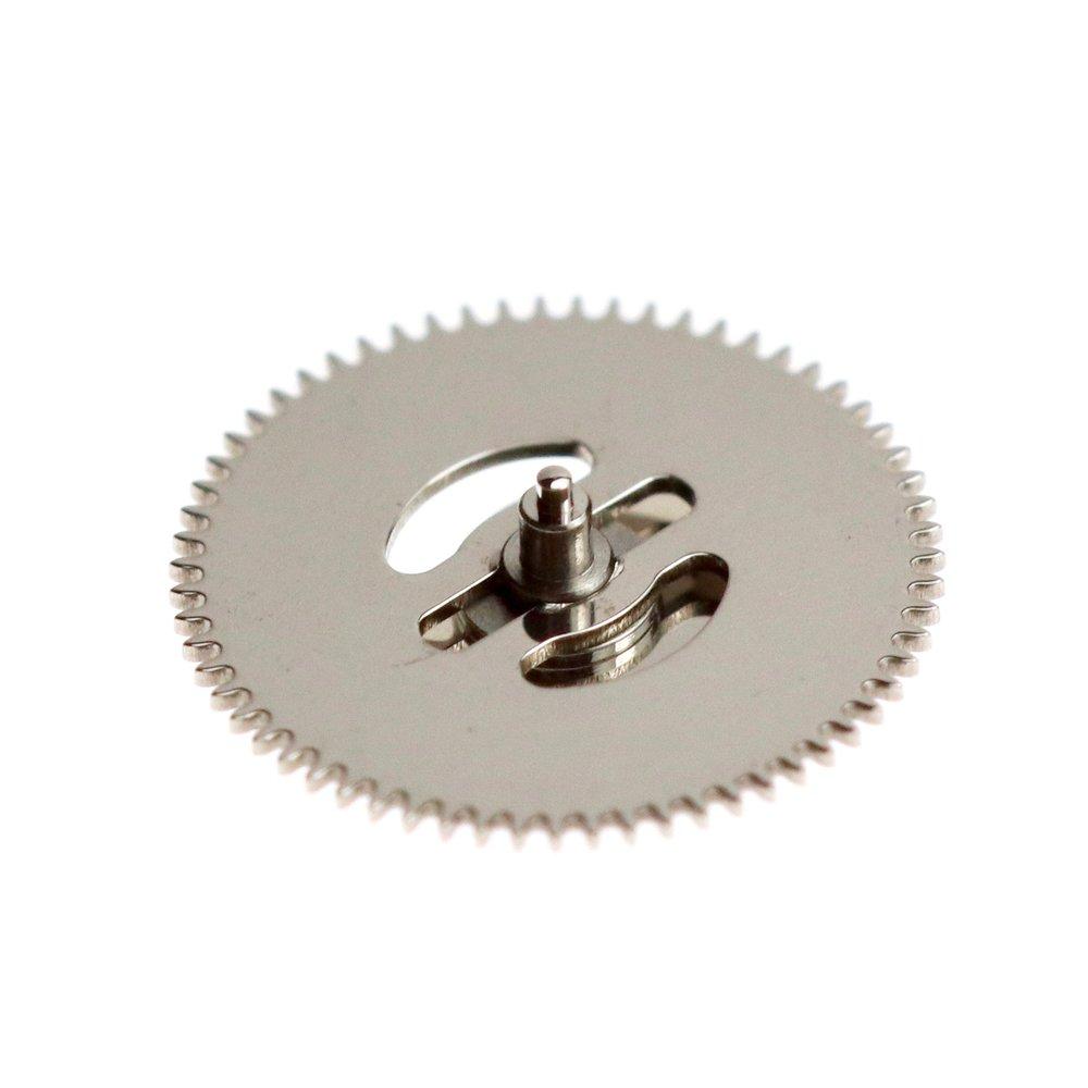 Underside of retrograde cam showing clutch mechanism