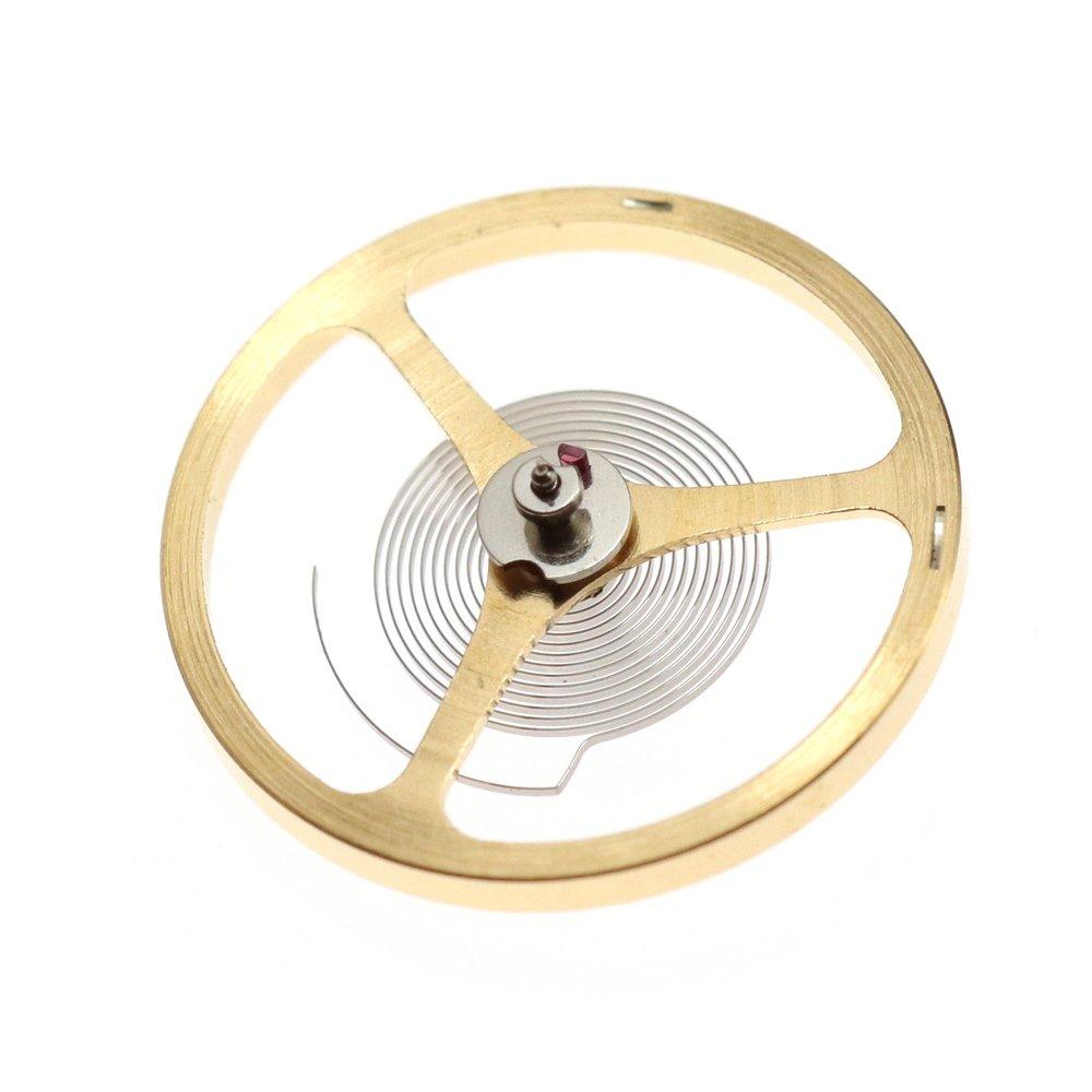 Underside of the balance wheel