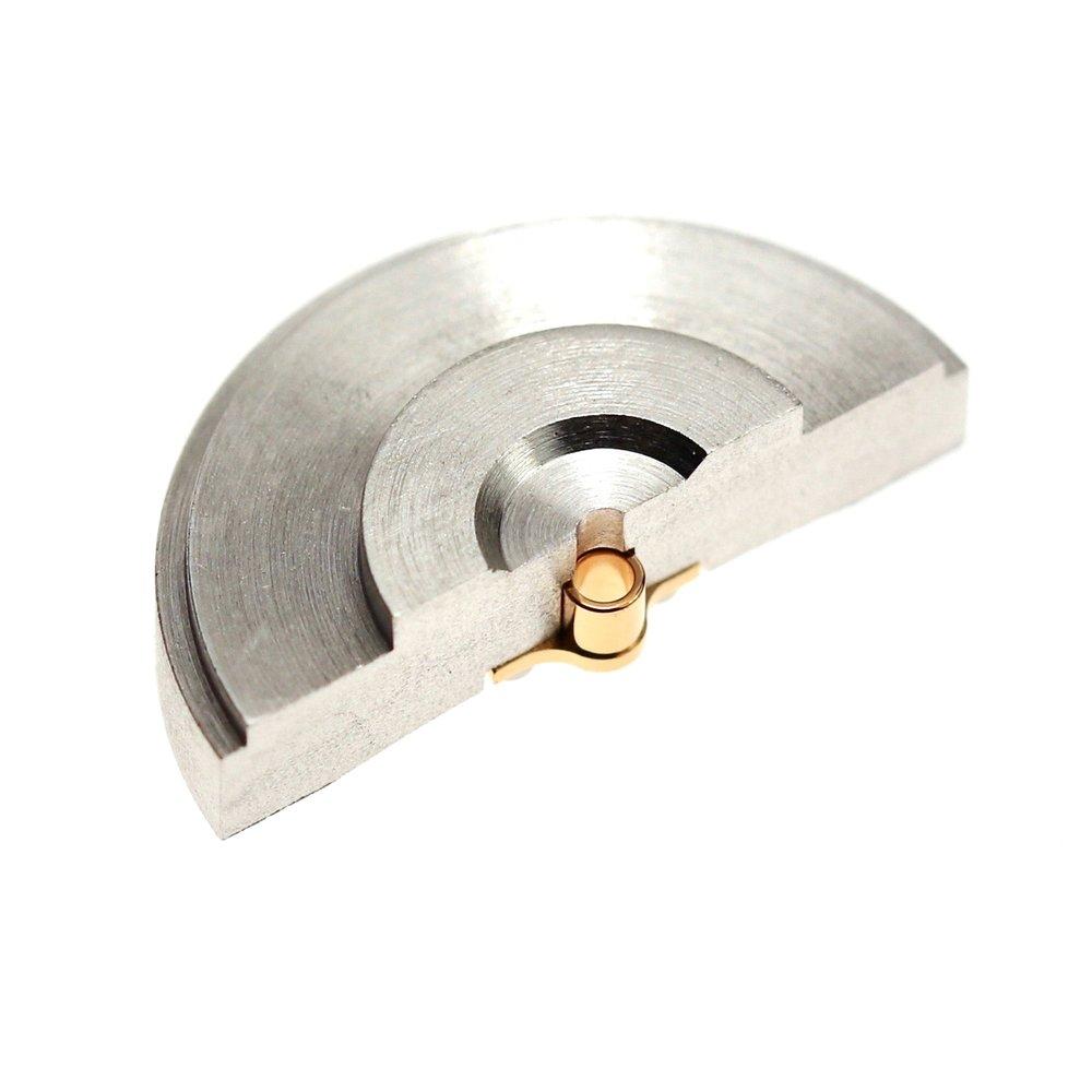 Underside of rotor mass