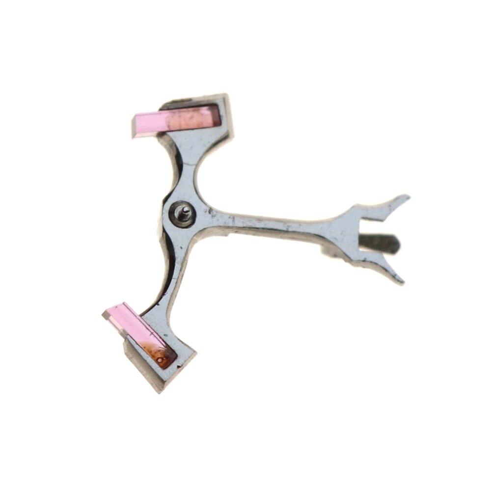 Hardened steel, angled and polished anchor