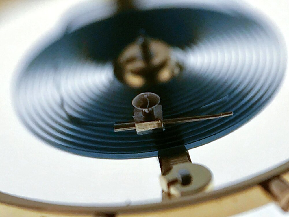 Swiss lever escapement, used in almost all watches and chronometers.