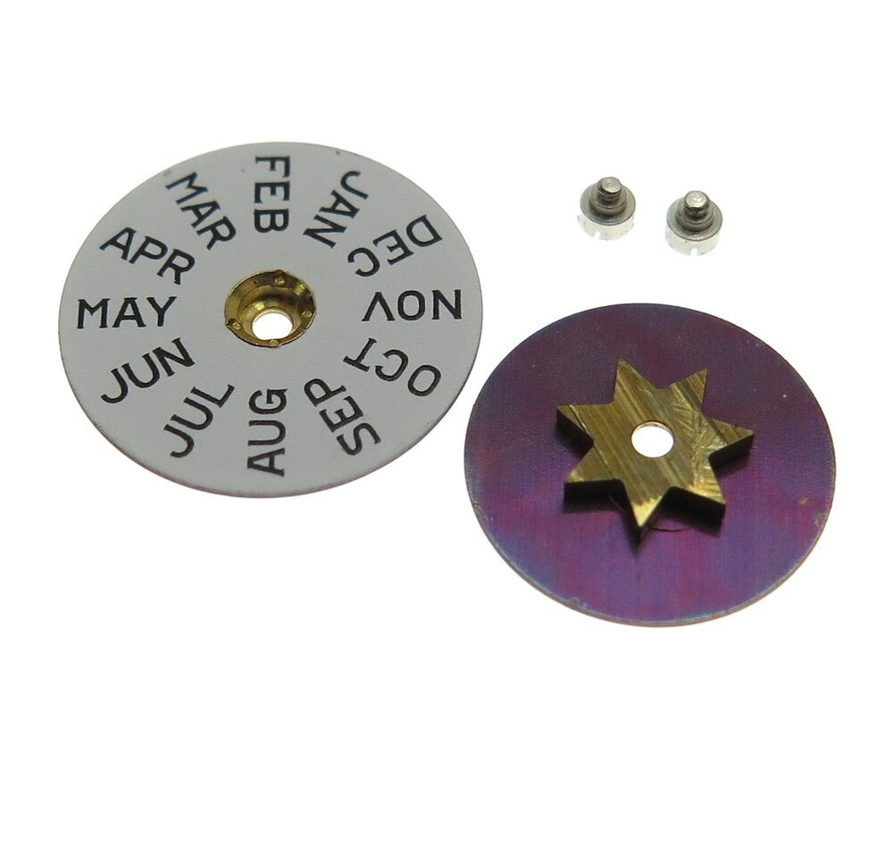 The day and month disc assemblies