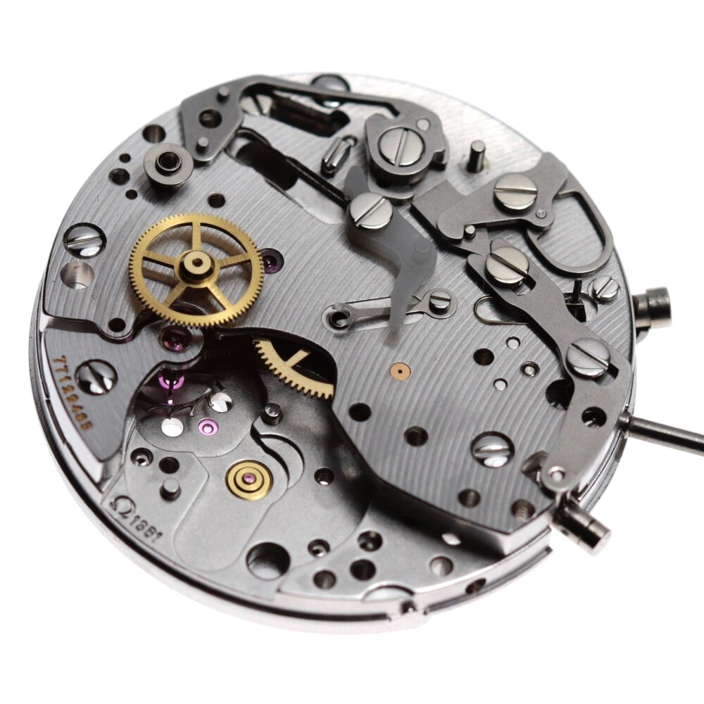 The remaining wheel in place on the chronograph is the upper fourth wheel which drives the chronograph.