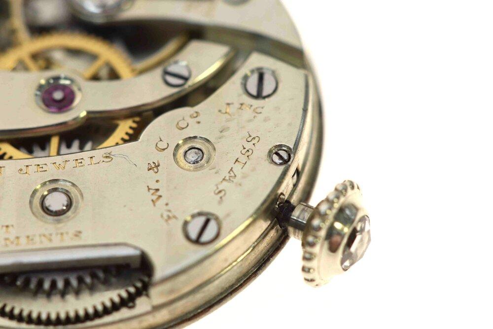 Setting lever screw