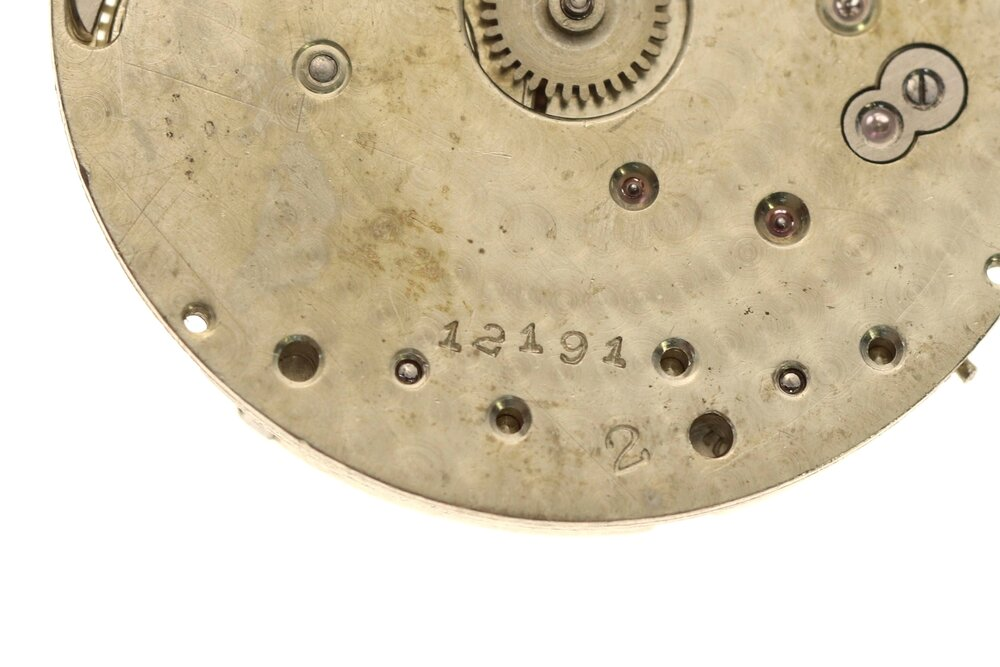 Close up of the manually stamped reference number