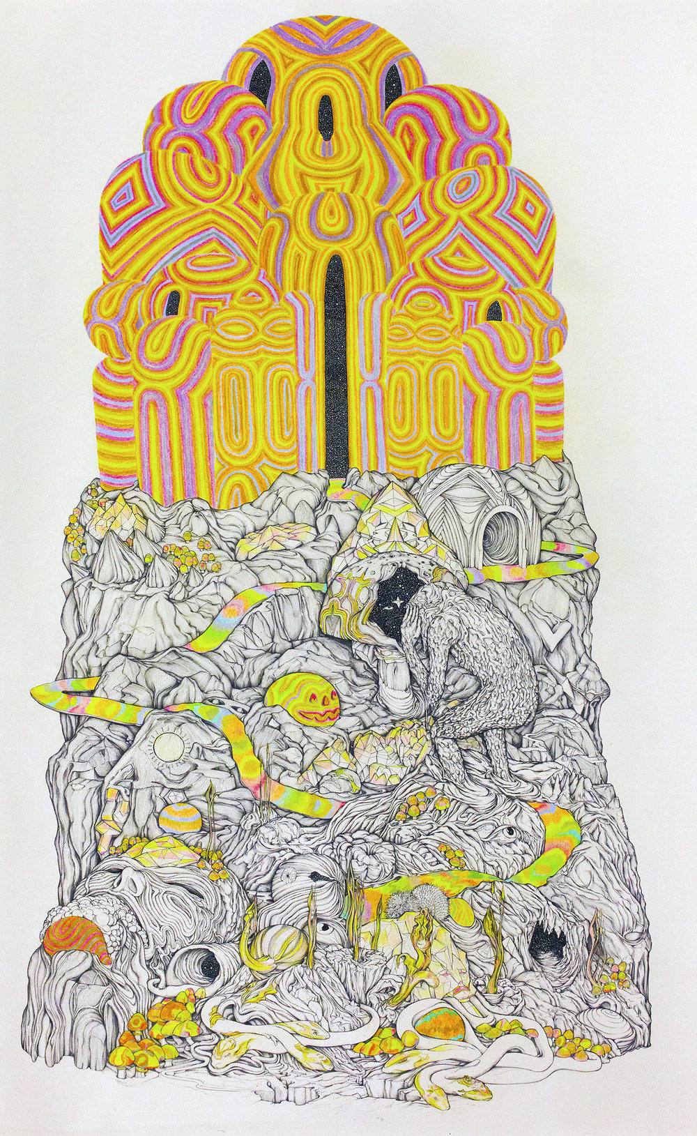 Ascension 2.5ft x 4 ft pen and pencil crayon on paper.jpg