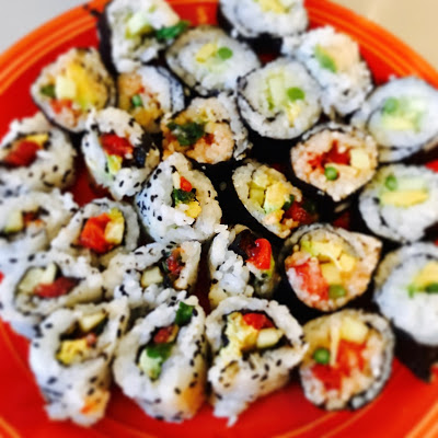"""Spicy """"Tuna"""" Vegan Sushi"""