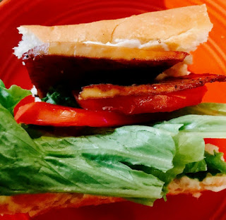 Tofu Bacon, Lettuce & Tomato Sandwiches! YUM!