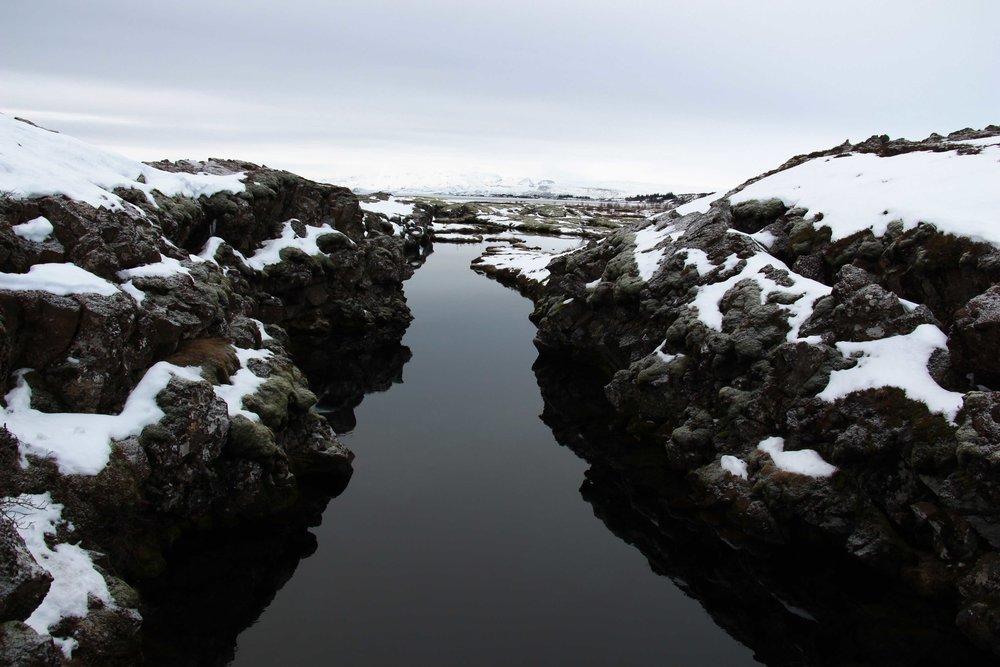 Silfra rift, a tectonic plate fissure