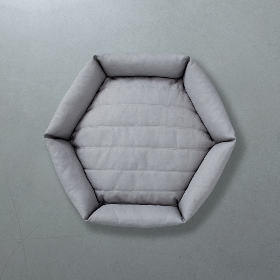 Hex cushion in Fog