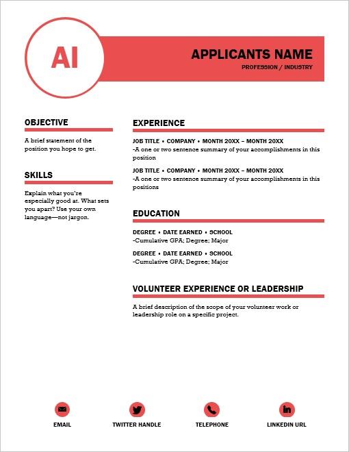 Resume Style #4 -