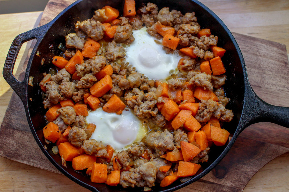 Sausage & Sweet Potato Breakfast Hash