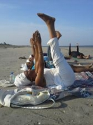 Teaching a Kundalini Yoga class at a Ra Sekhi retreat in Edisto Island, S.C.