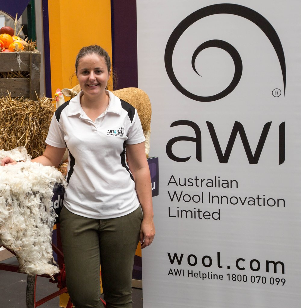 I love being able to share the story of wool and its unique qualities with school students and play a role in bridging the divide between rural and urban communities""