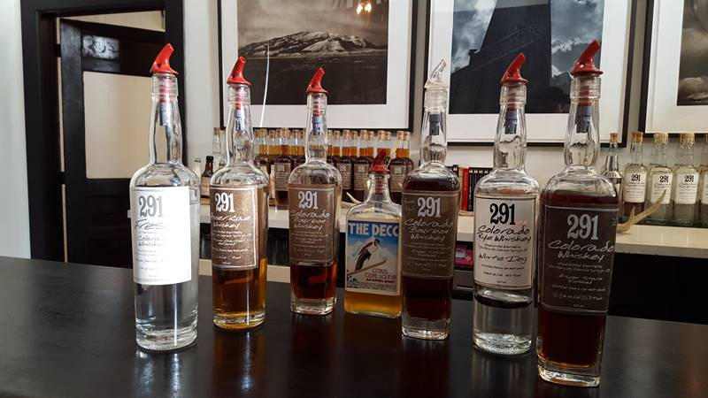 Final product: 291 Distillery tastings