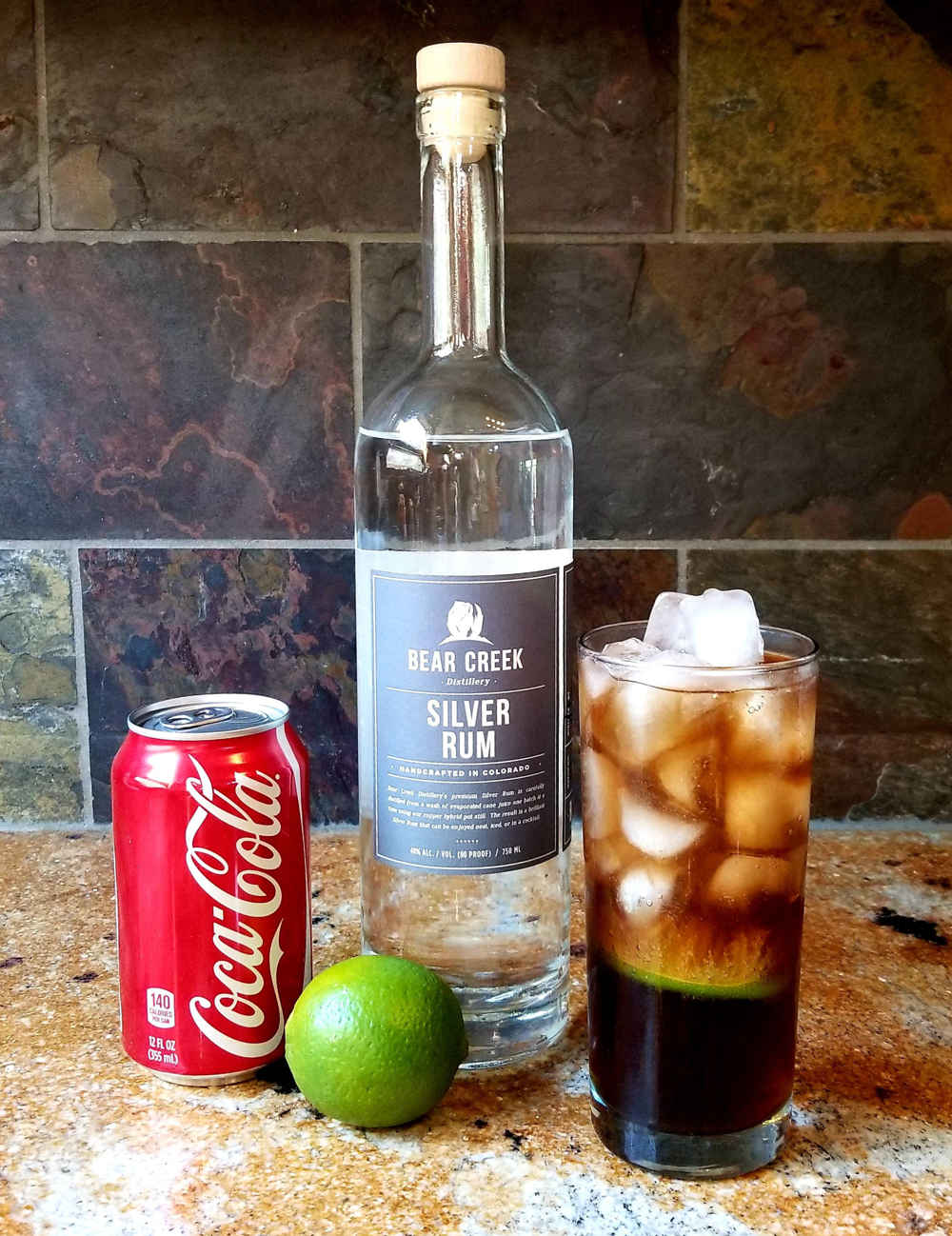 Cuba Libre Cocktail and Ingredients