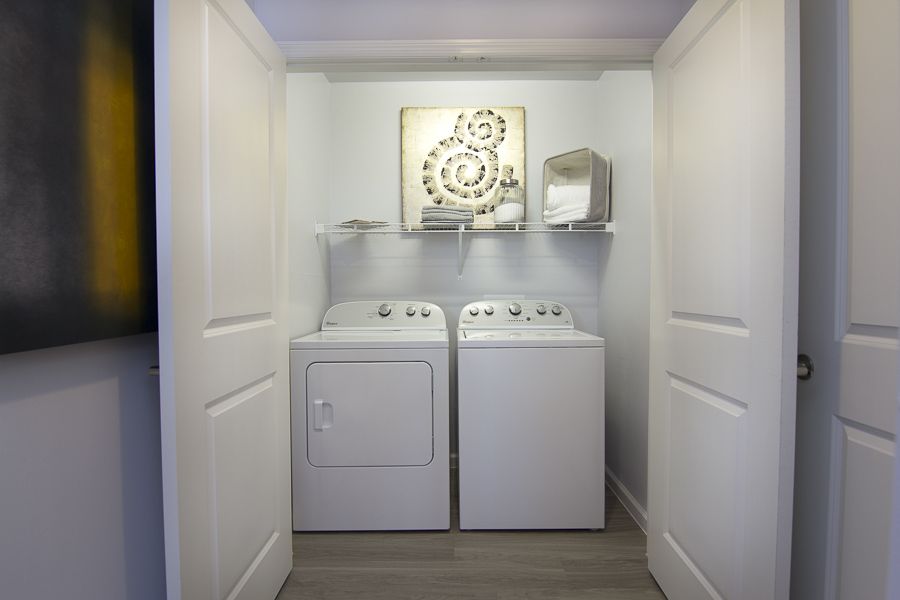 In-apartment laundry appliances