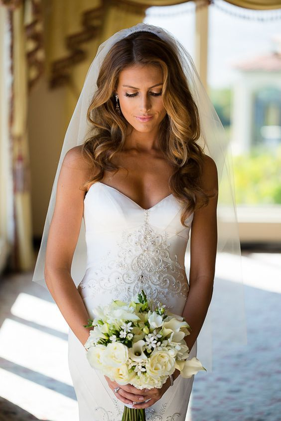 Jen Bunny in Matthew Christopher Dress: Mon Amie Bridal