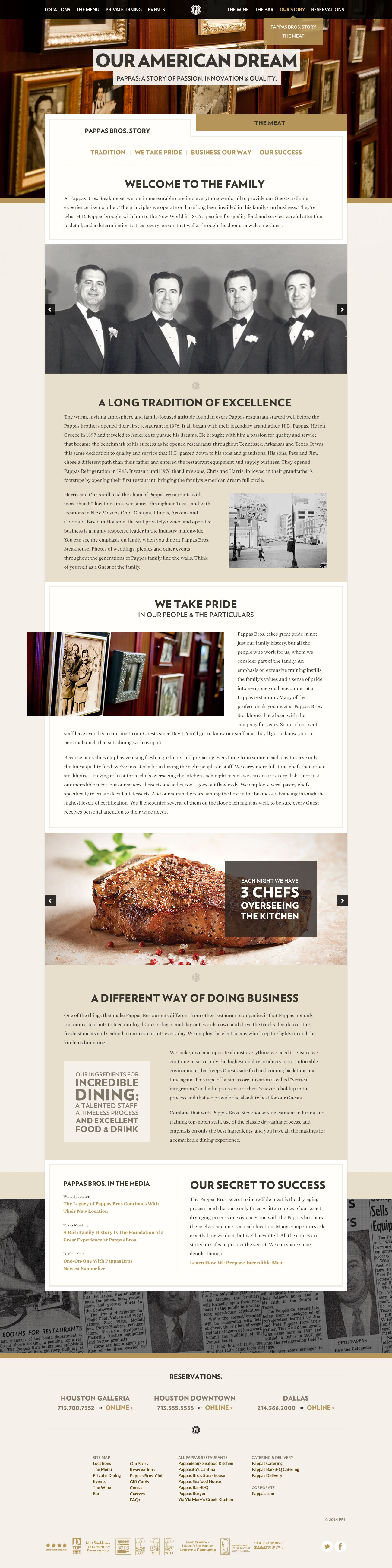 Pappas Steakhouse — Design.