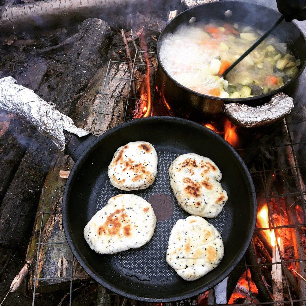 Cooking bread - Forest School Hertfordshire.JPG