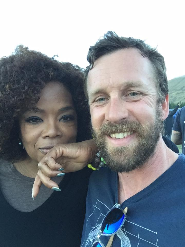 Oprah and me. Mt Cook 2017