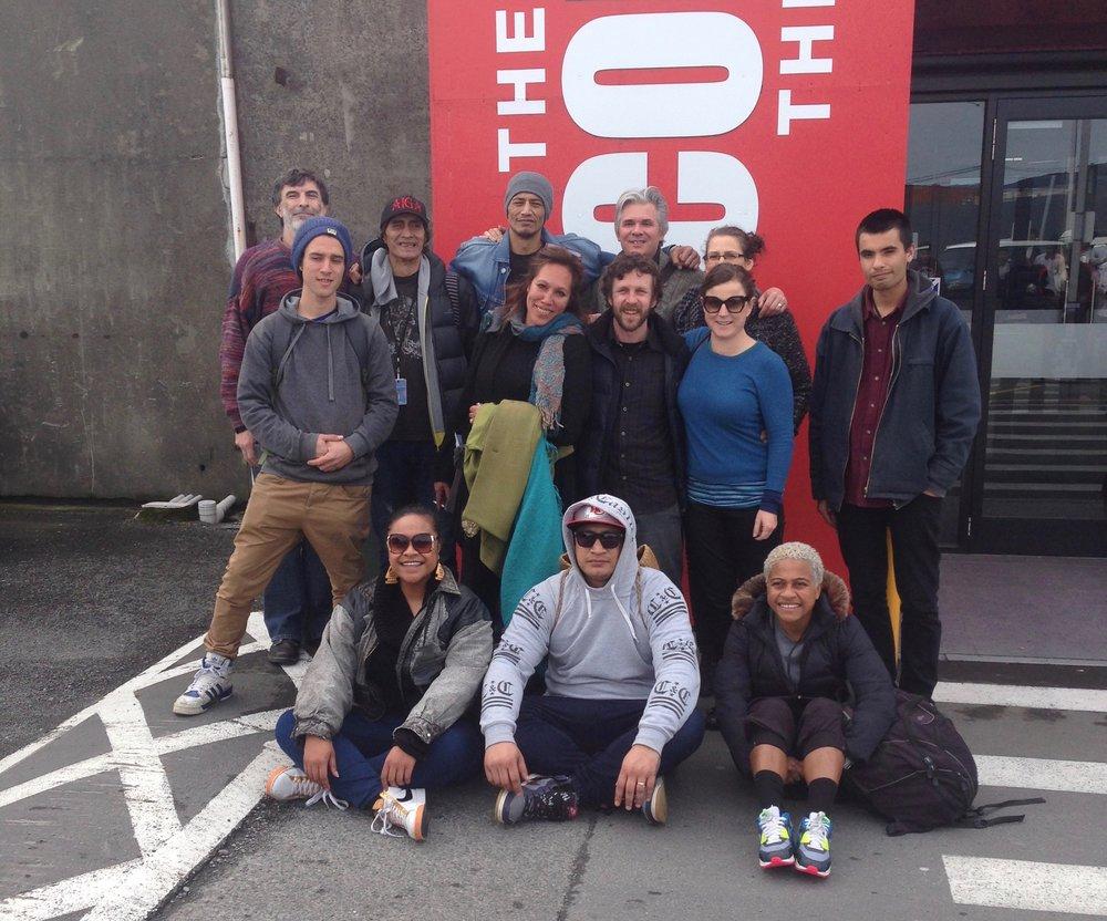 The White Guitar crew. Christchurch 2015