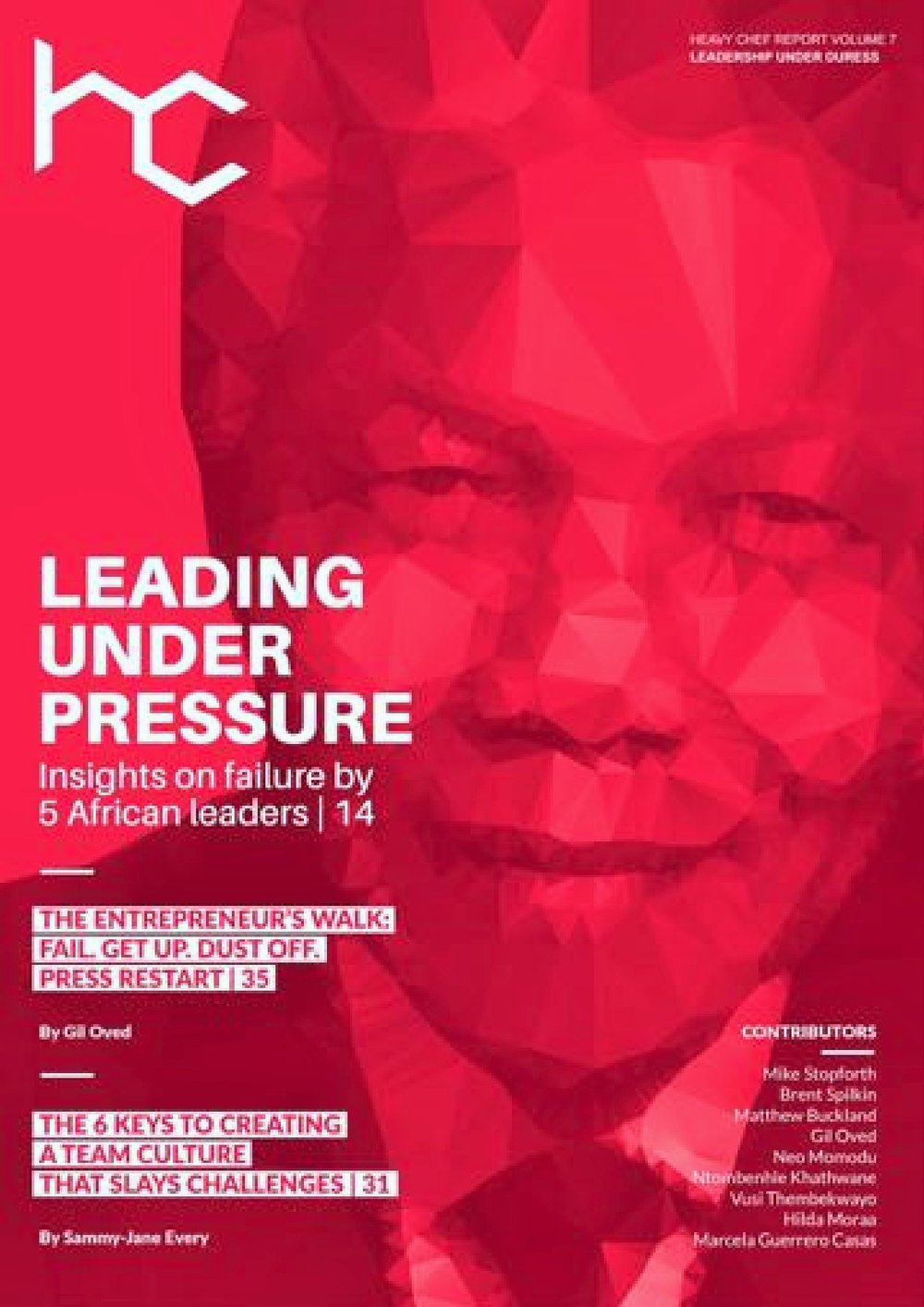 Our bright red cover, with Nelson Mandela on it, is as eye-catching as the content within.