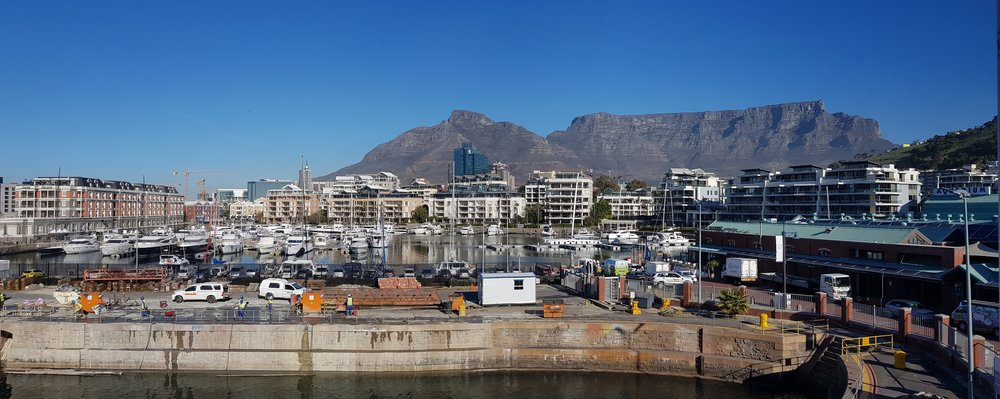 The view of Table Mountain from Workshop 17
