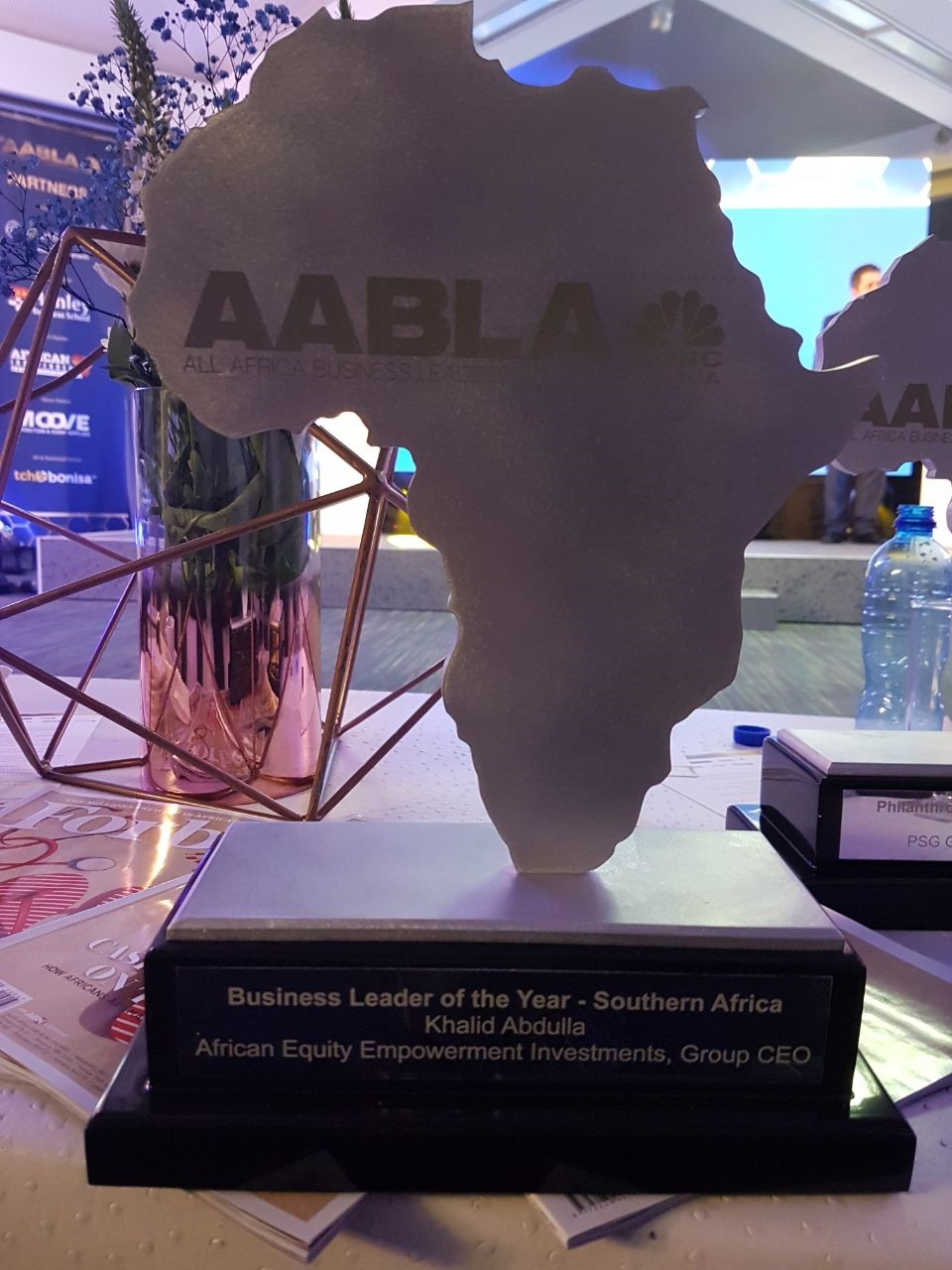 Khalid Abdulla's award for Business Leader of the Year