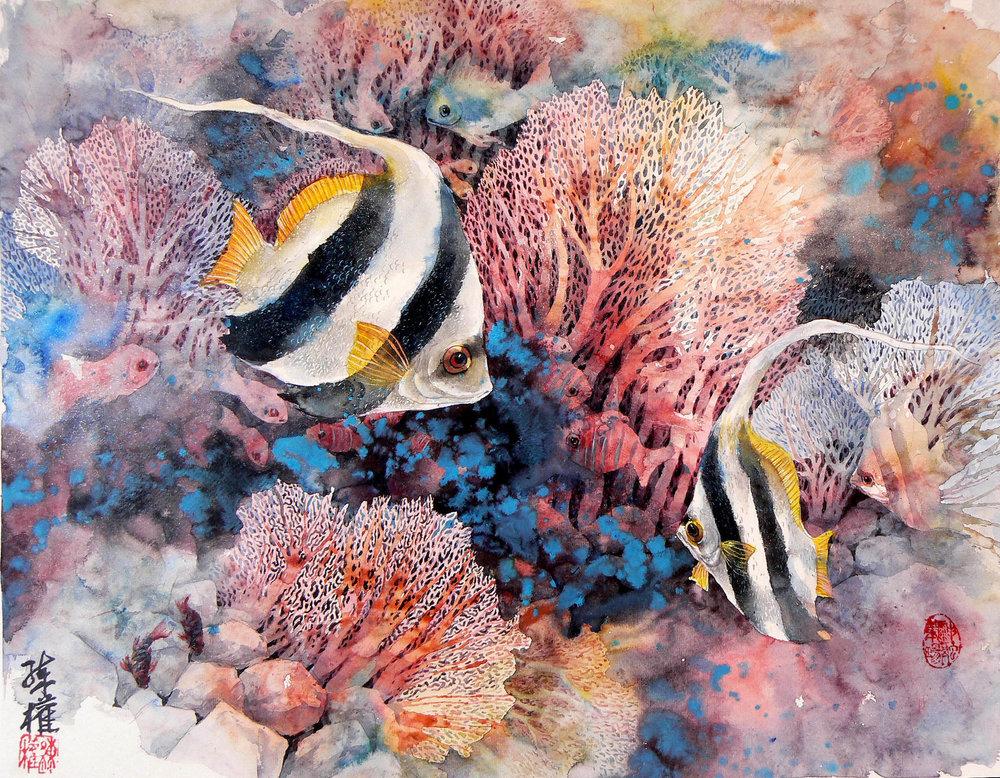 butterfly fish Ch-16x20 550.jpg