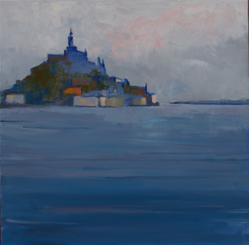 "Mont Saint Michel, Morning    by Brian Scanlon, $1,600  18"" x 18"""
