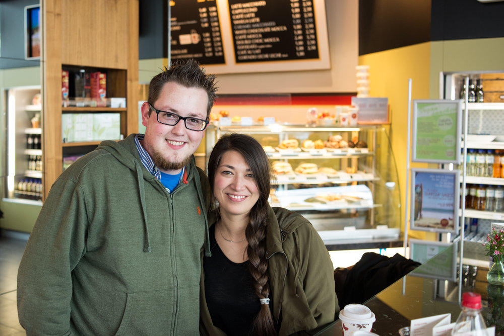 Seeing the sights and tasting the coffee with my cousin, Shannon.