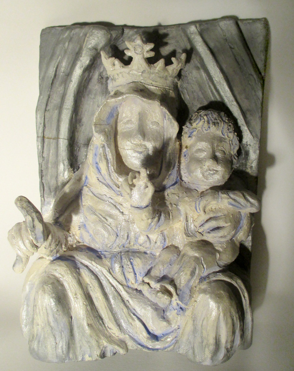 Mary and Jesus - Relief Sculpture Study