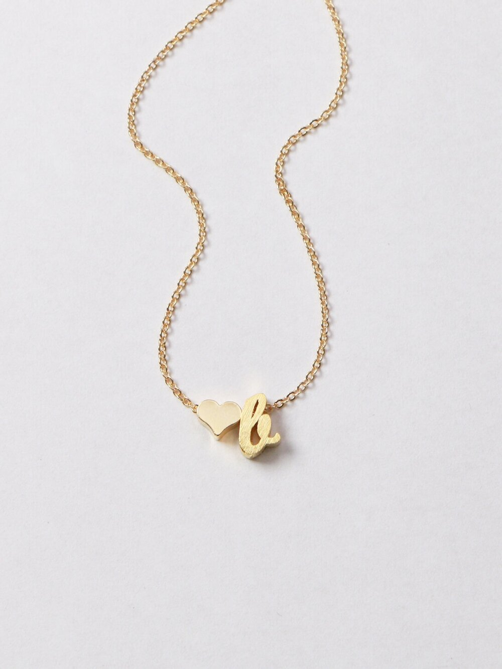 Mica heart initial necklace minthologie mica heart initial necklace aloadofball Gallery