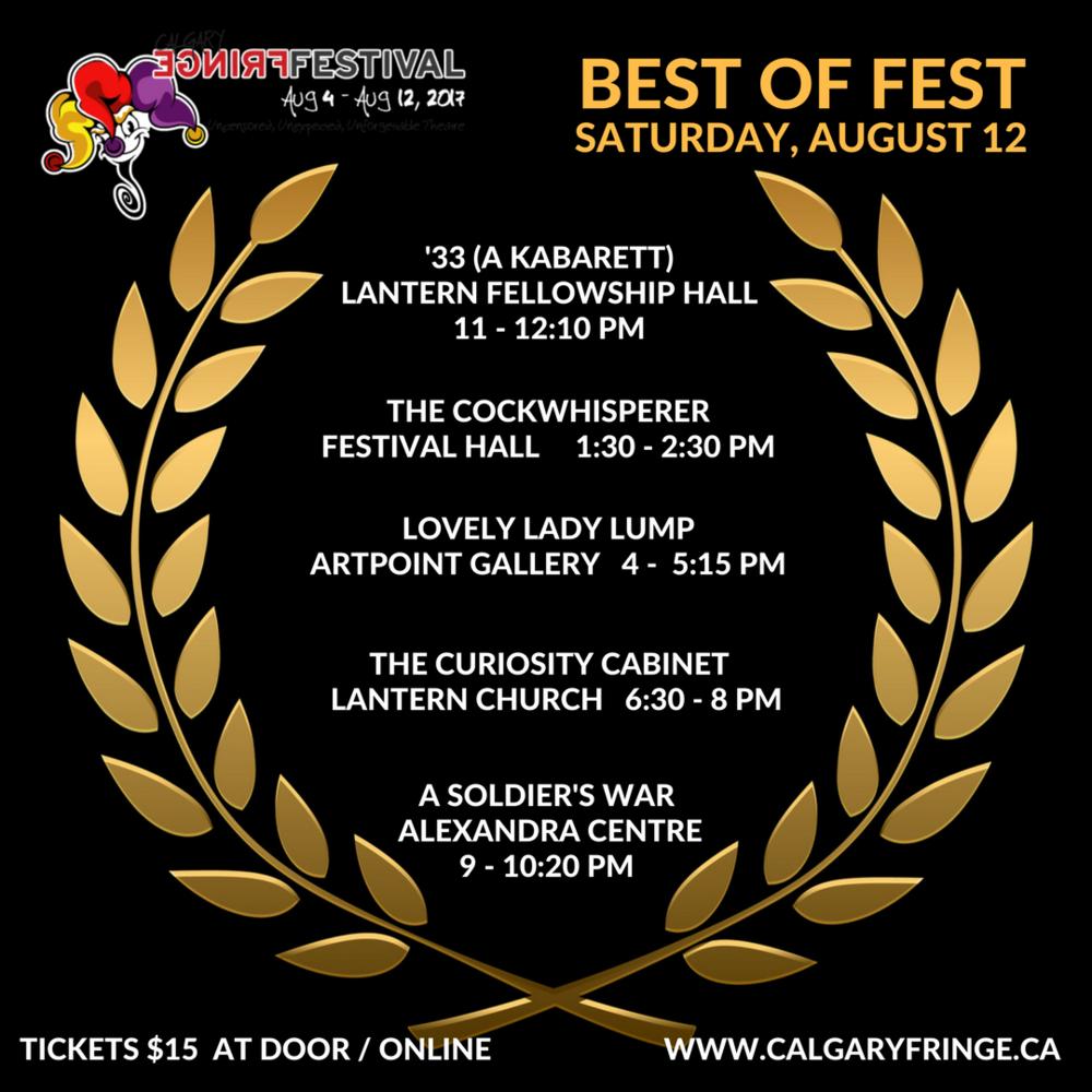 Curiosity Cabinet Best of Fest!