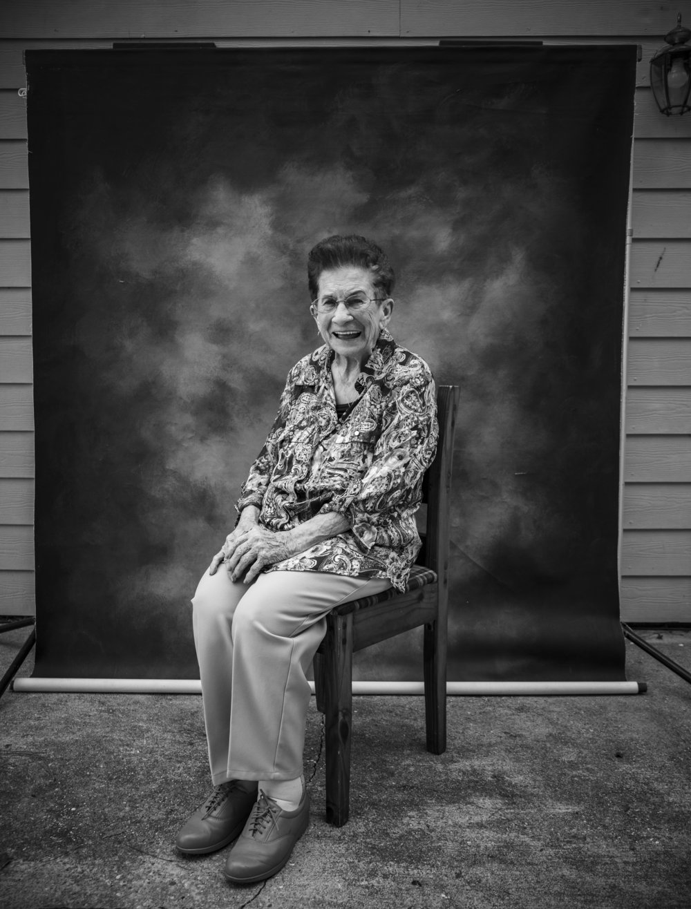 "Mrs. LeeDee from LeBeau, LA. She worked at Stelly's Diner for 60 years, retiring at 89. She raised 8 children. Out take from our project, ""Ma Chère Maw-Maw: Documenting Cajun & Creole Grandmothers of South Louisiana."""