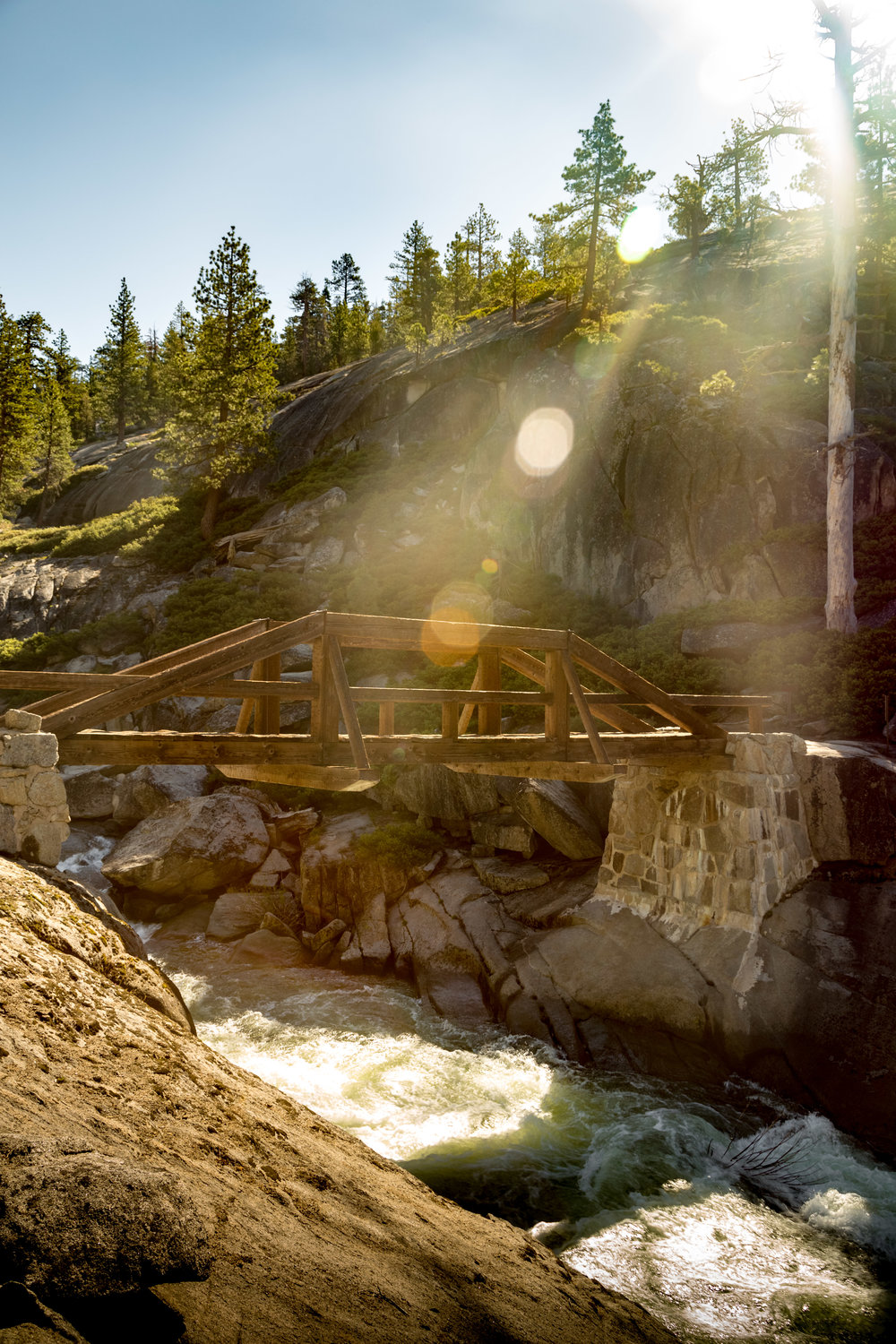 The Bridge Connecting the Upper Yosemite Falls Trail to the Trail to Yosemite Point