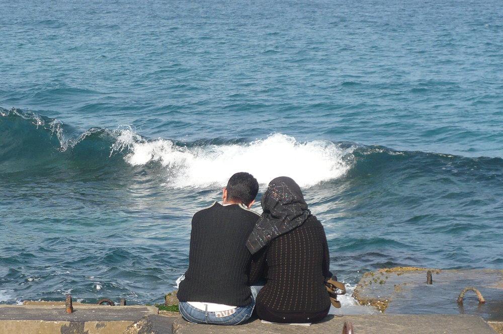 Romance at the beach